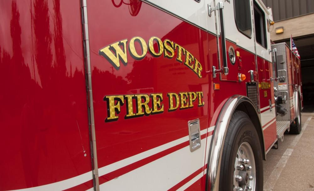 Garage and car destroyed in Monday evening fire in Wooster